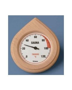 Thermometer in luxe houten kader
